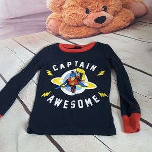 3/$15 Children's Place Captain Awesome pj top